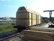 Доска обрезная,  брус в вагонном объёме из России